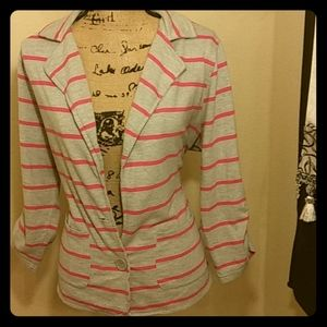 Plus Size striped blazer